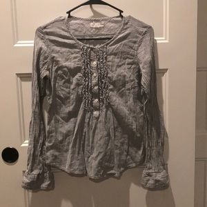 Aeropostale Half Button-Up Cotton Blouse
